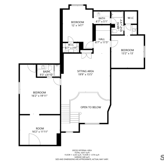 Shoot2Sell Photography - Floorplans - 2D Example (2)