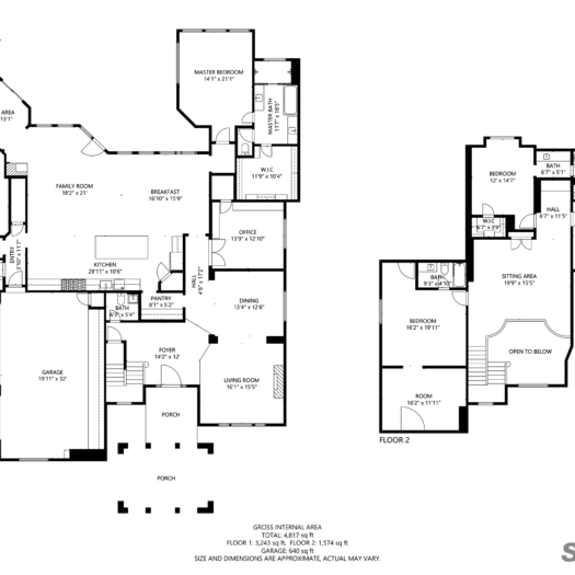 Shoot2Sell Photography - Floorplans - 2D Example (3)