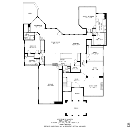 Shoot2Sell Photography - Floorplans - 2D Example