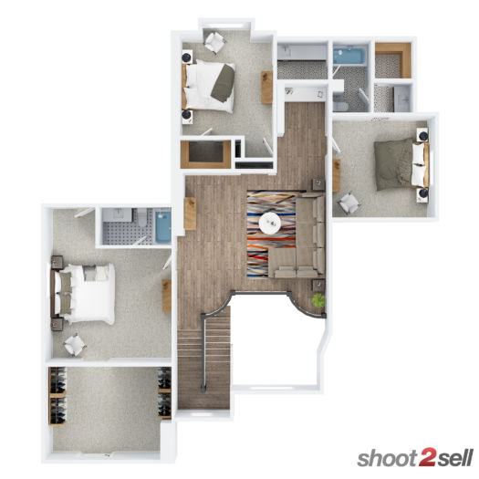 Shoot2Sell Photography - Floorplans - 3D Example (2)
