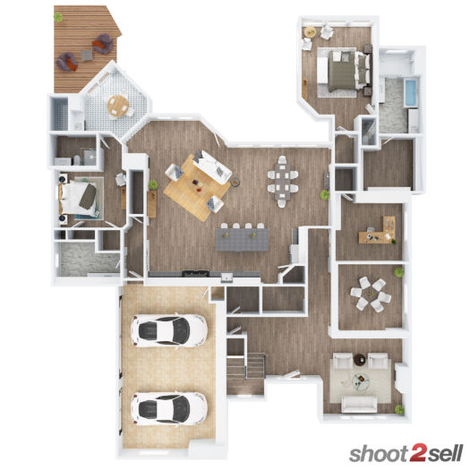 Shoot2Sell Photography - Floorplans - 3D Example